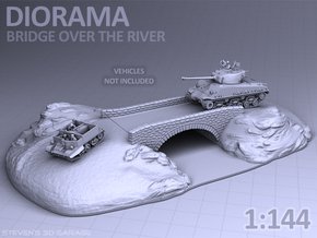 Diorama - Bridge over the river in White Strong & Flexible