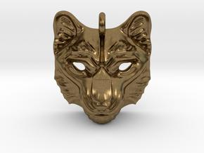 Snow Leopard Small Pendant in Natural Bronze