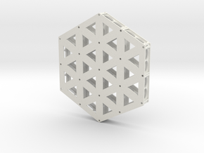 Isogrid Extruded Flanges  in White Natural Versatile Plastic