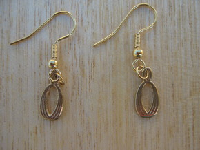 Almond Earrings in Raw Bronze