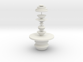 Table And Sculpture in White Natural Versatile Plastic