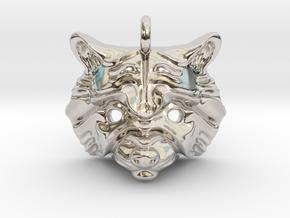 Raccoon Pendant in Platinum