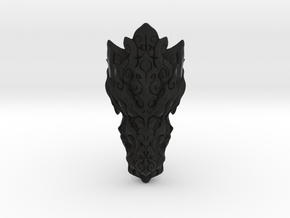 Dragon Ring - Size 10  in Black Natural Versatile Plastic