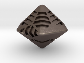 Stripes D12 (hexagonal bipyramid version) in Stainless Steel