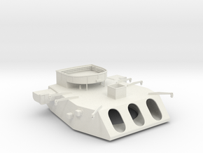 1/144 Iowa Class Turret in White Natural Versatile Plastic