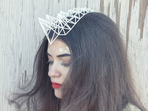 Exo Headpiece in White Natural Versatile Plastic