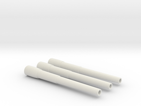 1/96 Iowa Class Barrel Set in White Natural Versatile Plastic