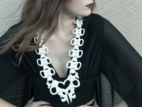 Osseous Neckpiece in White Strong & Flexible