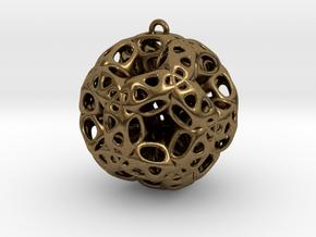 Chrismas ball in Natural Bronze