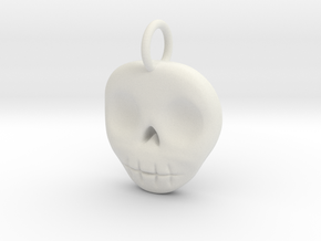 Skull Necklace/Earring pendant in White Natural Versatile Plastic