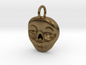 Skull Necklace/Earring pendant in Natural Bronze
