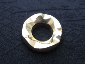 Ag Torch: Brass Tail Ring (4 of 4) in 14k Gold Plated Brass