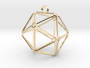 Pentagon Pendant in 14K Yellow Gold