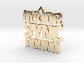 MAJOR $YNC POUND  in 14K Yellow Gold