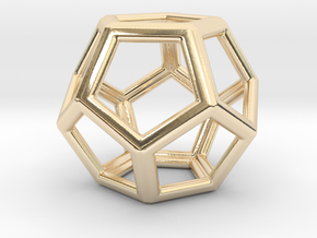 Dodecahedron LG in 14k Gold Plated Brass