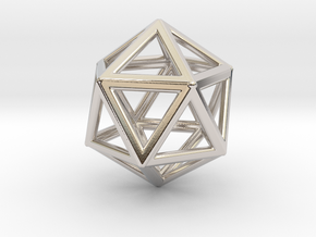 Icosahedron LG in Rhodium Plated Brass