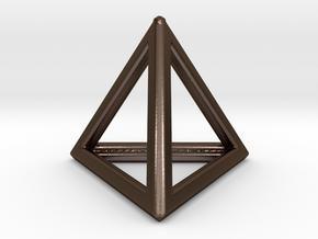 Tetrahedron LG in Polished Bronze Steel