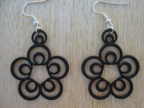 Five Two-Loop Earrings in Black Natural Versatile Plastic