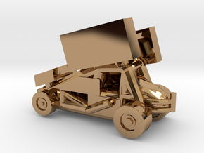 Stainless Sprint Car in Polished Brass
