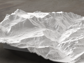 8''/20cm Oberland Peaks, Switzerland in White Natural Versatile Plastic