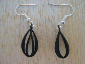 Simple Coil Earrings in Black Strong & Flexible