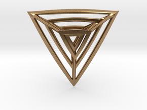 Triangulation Pendant in Natural Brass