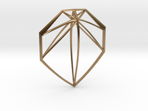Geometric Pendant in Natural Brass