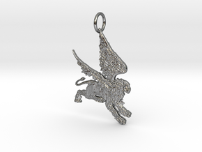 Griffen 1 Pendant in Polished Silver