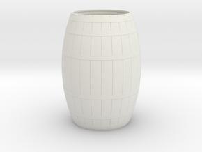 18th Century Barrel-Open (21hx15dia) 1/35 in White Natural Versatile Plastic