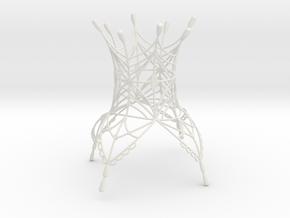 Olya Crown in White Natural Versatile Plastic
