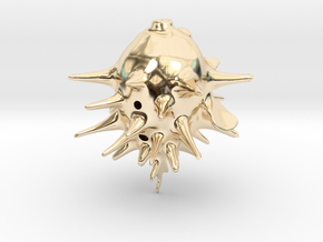 Blowfishpig 2 in 14k Gold Plated Brass