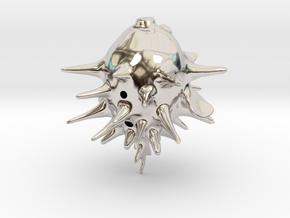 Blowfishpig 2 in Rhodium Plated Brass