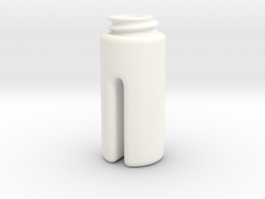 Cylinder With Slot in White Processed Versatile Plastic