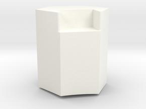T-21 Greeblie Base in White Processed Versatile Plastic