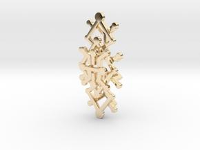 Geo Rhombus Pendant in 14k Gold Plated Brass
