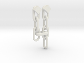"""TP"" Mirror of Twilight (Chains) in White Natural Versatile Plastic"