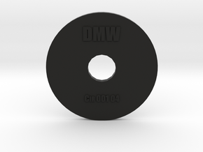 Clay Extruder Die: Circle 001 04 in Black Natural Versatile Plastic