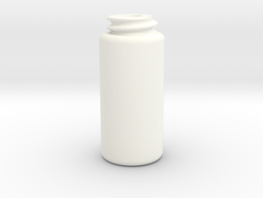 Standard Cylinder in White Processed Versatile Plastic