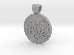 Love is Forever, pendant in Aluminum