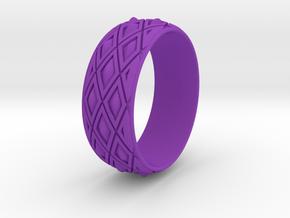 "X SPIKE BANGLE 3.25"" INNER DIA. in Purple Processed Versatile Plastic"