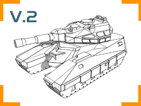 """Bishop"" Battle Tank 6mm V.2 in White Strong & Flexible"