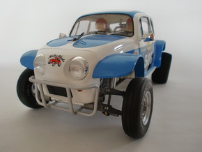 FRONT BUMPER FOR TAMIYA SAND SCORCHER SRB in White Processed Versatile Plastic