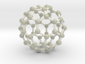 0009 Fullerene c60 ih in Glossy Full Color Sandstone