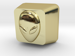 Topre Alien Keycap in 18k Gold