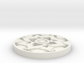 Fleur Style Coaster  in White Natural Versatile Plastic