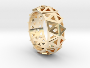 Brilliant Facets - Triangle Ring in 14K Yellow Gold