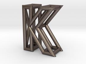 K in Polished Bronzed Silver Steel