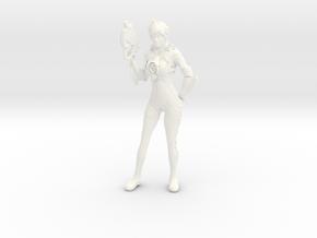 Tracer Statue in White Processed Versatile Plastic