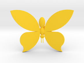 Butterfly On Your Wall - Medium in Yellow Processed Versatile Plastic