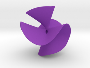Cubic Surface A in Purple Processed Versatile Plastic